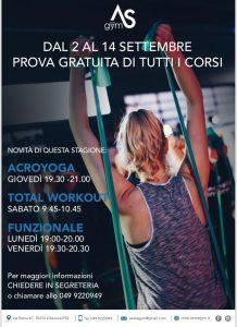 Corsi: Prove gratuite a Settembre